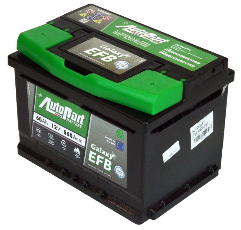 AKUMULATORS 60AH/12V GALAXY EFB R START-STOP AUTOPART