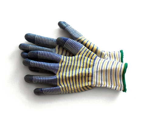 Garden gloves with coating