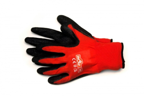 Coated textile gloves