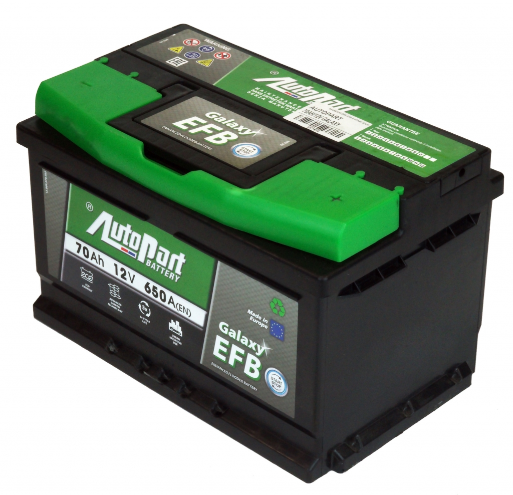 AKUMULATORS 70AH/12V GALAXY EFB R START-STOP AUTOPART