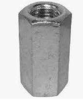 DIN 6334TR Pagarināts sešstūra uzgrieznis trapecvītne 10.9